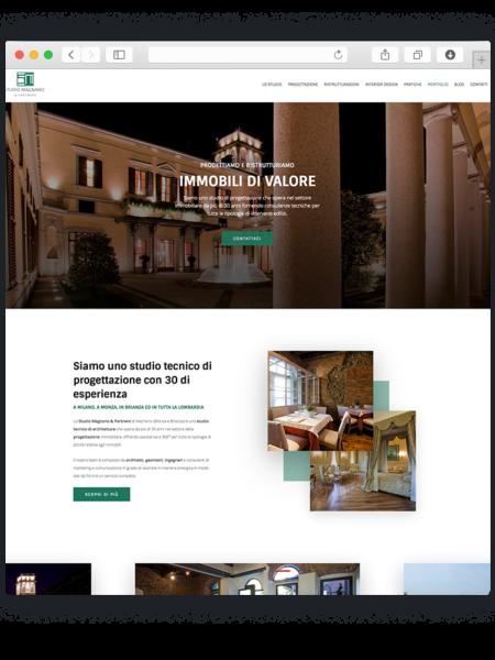 Realizzazione sito wordpress per studio magnano