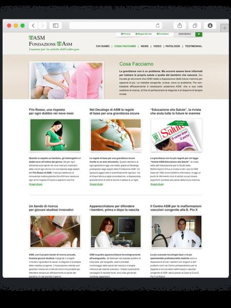 Realizzazione sito wordpress per asm onlus