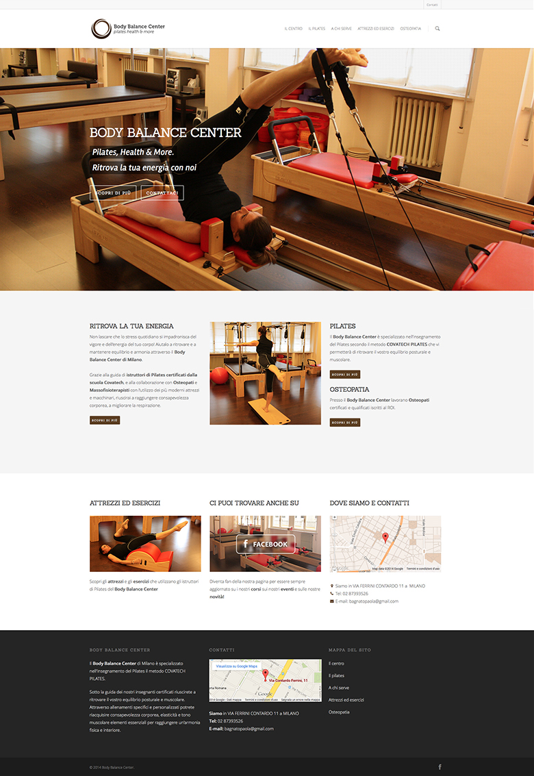 body balance center restyling sito wordpress