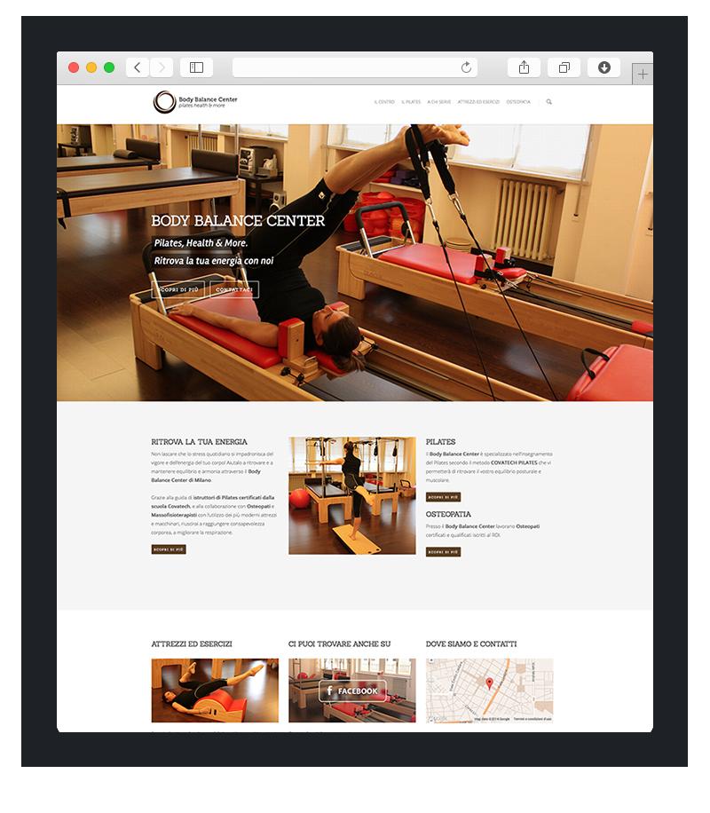 Realizzazione sito web per body balance center