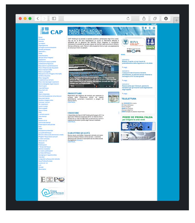 esempio restyling sito web gruppo cap