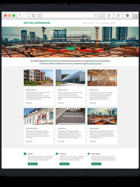 Realizzazione sito wordpress per impresa costruzioni