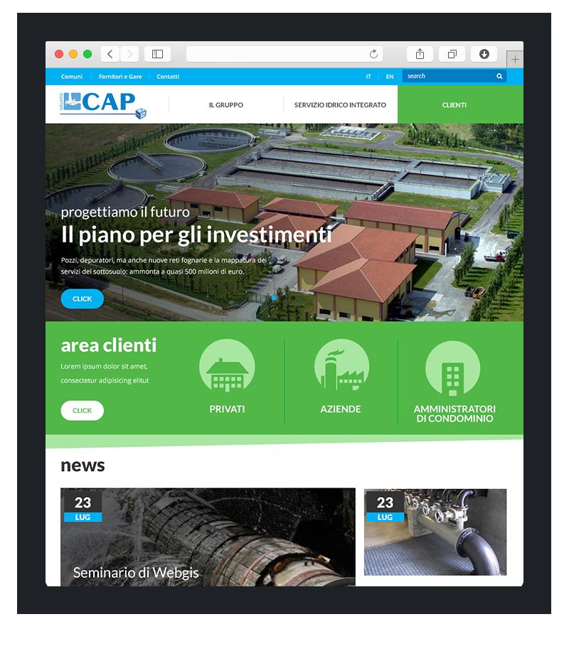 Realizzazione sito wordpress per Cap