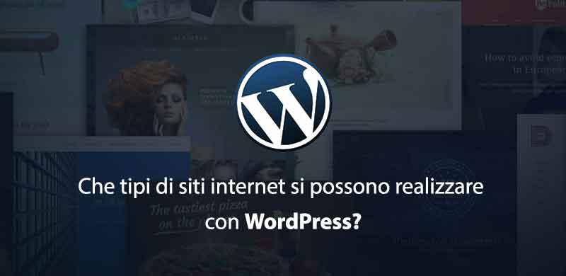 siti realizzabili con wordpress