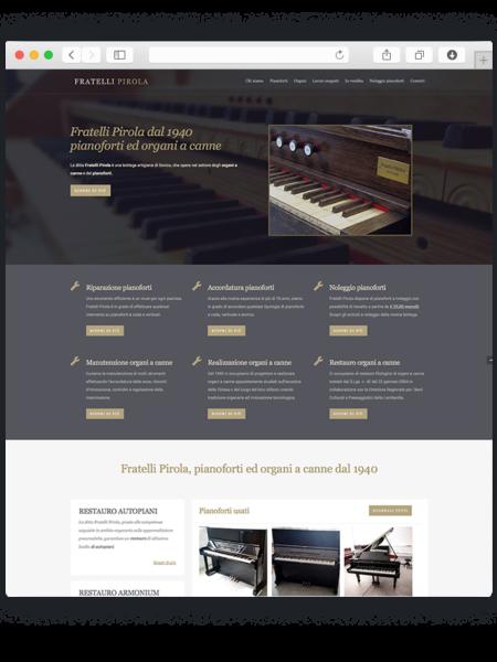 Realizzazione sito wordpress per Pirola fratelli