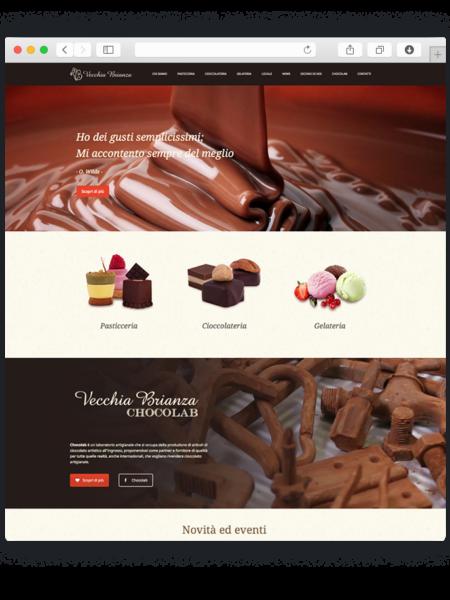 Realizzazione sito wordpress per pasticceria Vecchia Brianza