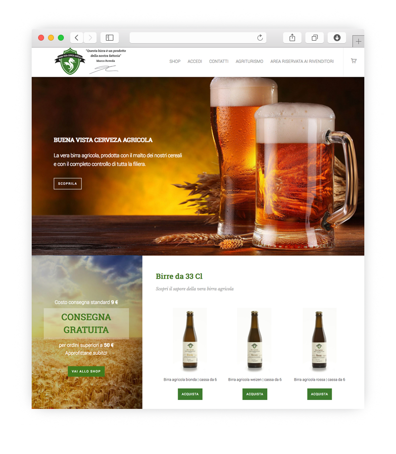Realizzazione sito web per Agriroveda