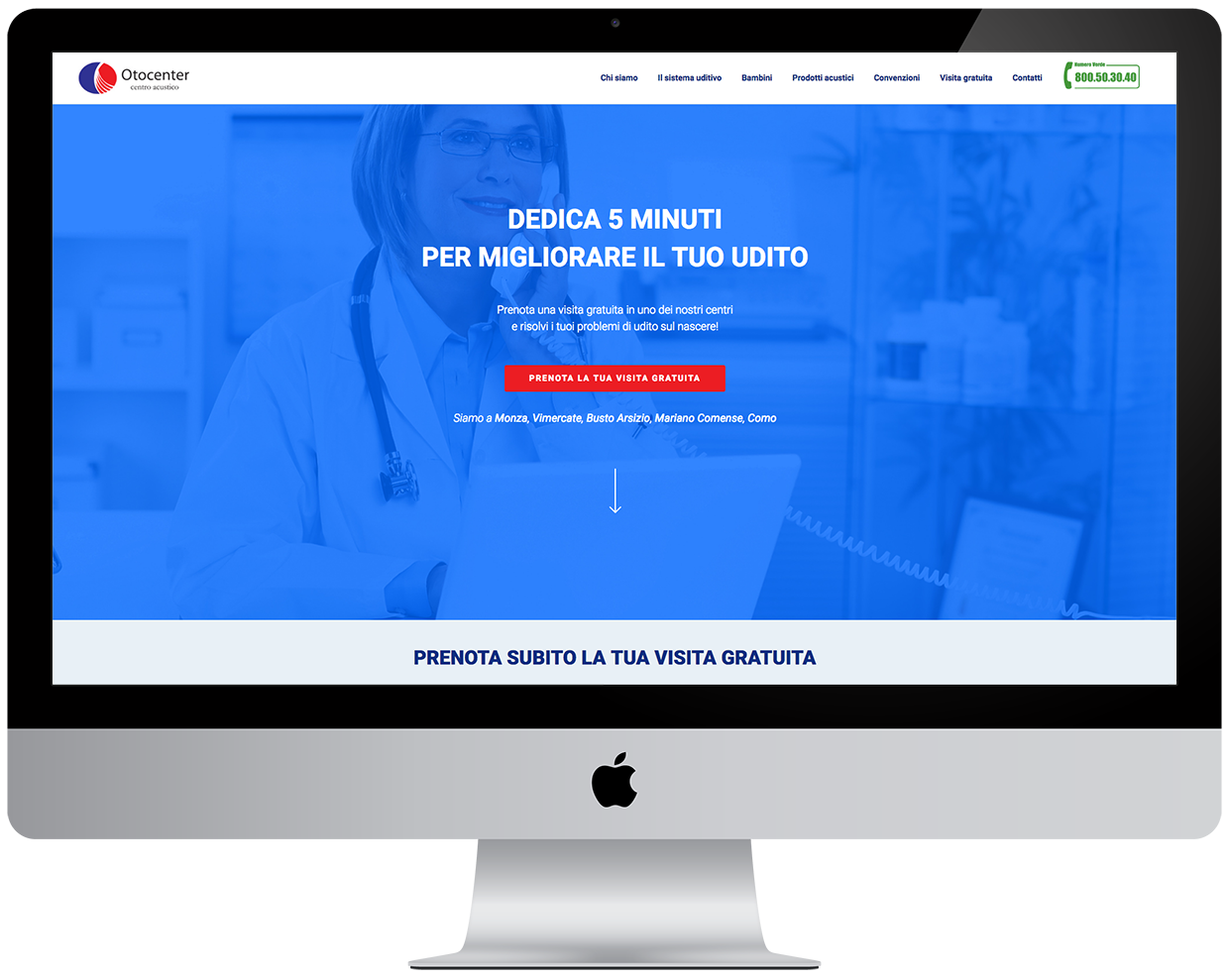 landing page wordpress otocenter