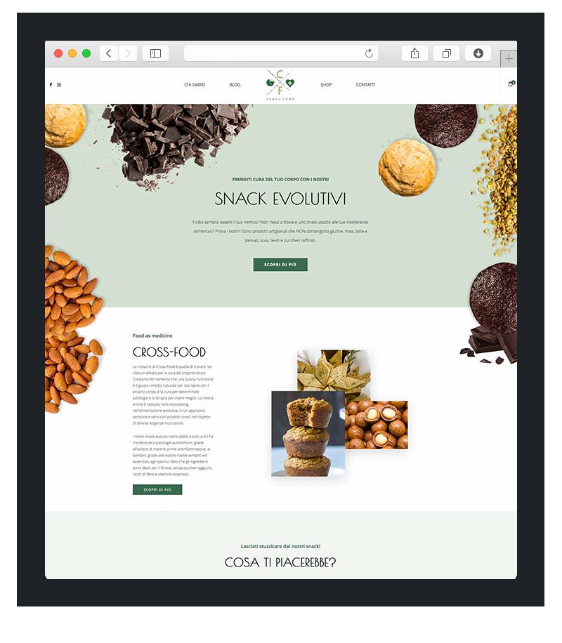 Realizzazione sito wordpress per cross food