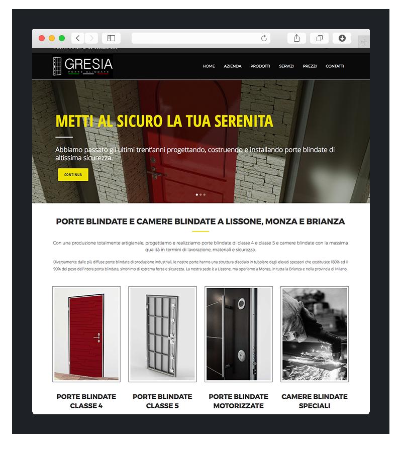 sito wordpress gresia porte