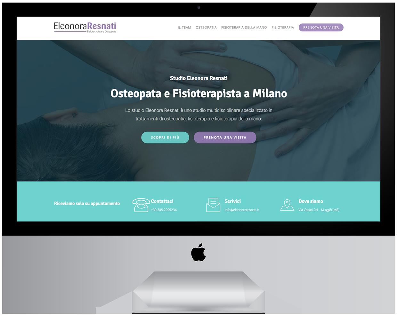 sito internet fisioterapista eleonora resnati