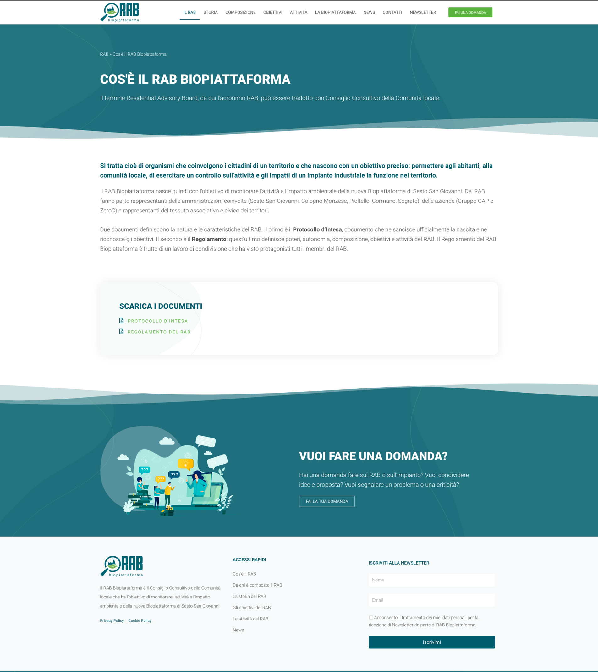 sito wordpress rab biopiattaforma home