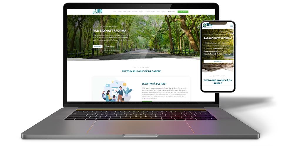 sito wordpress per rab biopiattaforma