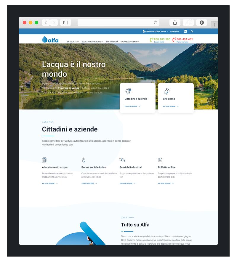 sviluppo sito wordpress alfavarese