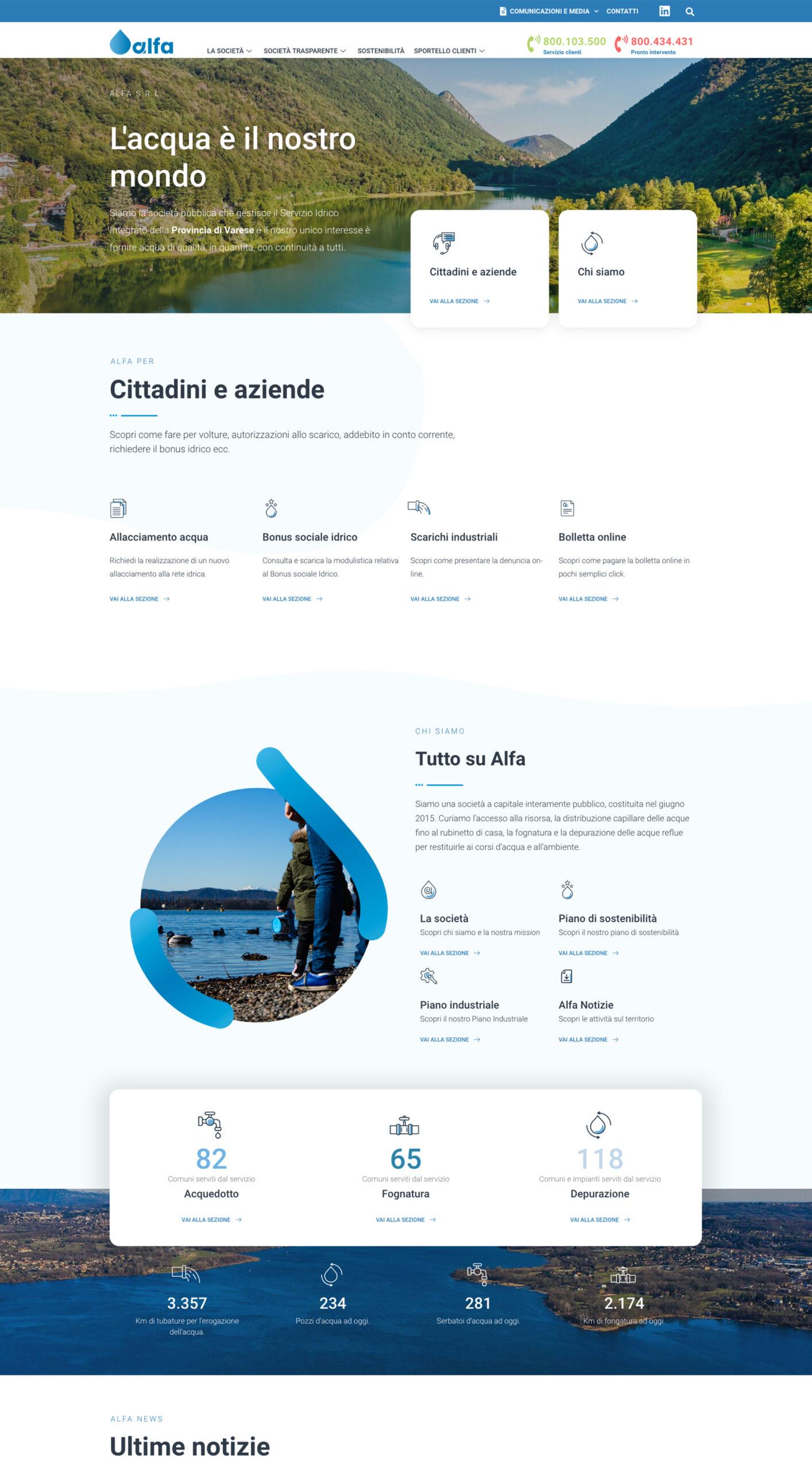sito web alfavarese desktop e mobile